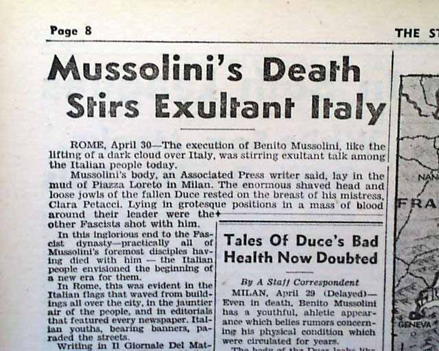 a paper about mussolini Open document below is an essay on benito mussolini from anti essays, your source for research papers, essays, and term paper examples.