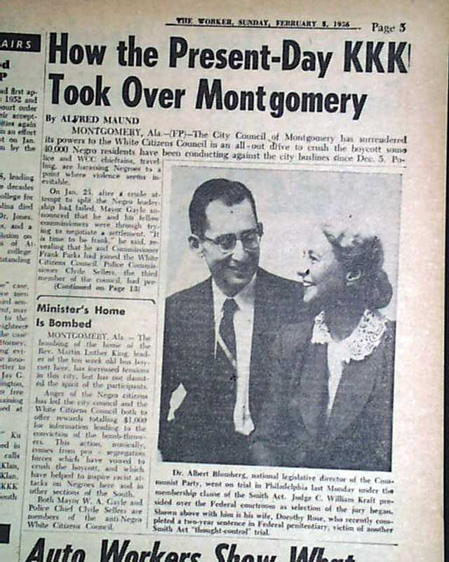 Kkk Takes Over Montgomery Alabama Dr King S House