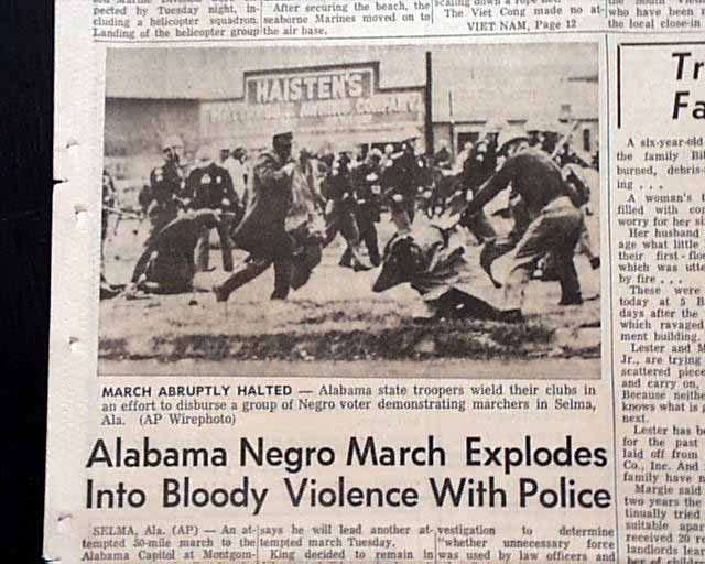 "bloody sunday selma was forever changed Selma civil rights milestone marked by first commemorate the ""bloody sunday"" march of 1965 and segregation forever"" selma's fire department."