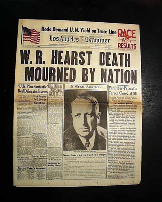 the life and times of william randolph hearst What murdoch can learn from hearst the result of hearst's rigid reluctance to adjust to the times was disaster the life of william randolph hearst and andrew.
