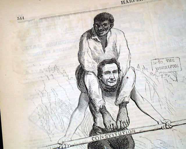 Notable Abraham Lincoln political cartoon, with racial ...