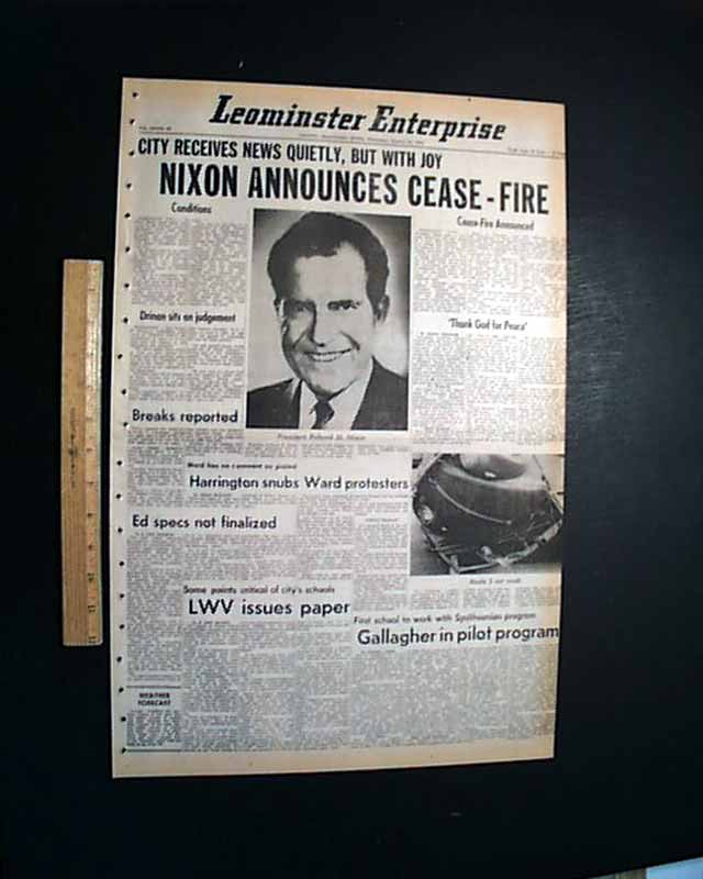Vietnam War Nixon Announces Cease Fire Rarenewspapers