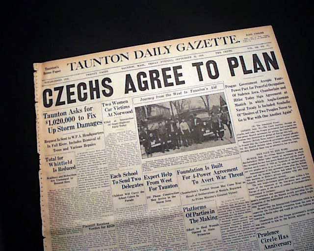 Munich agreement of 1938 rarenewspapers click image to enlarge 569169 platinumwayz