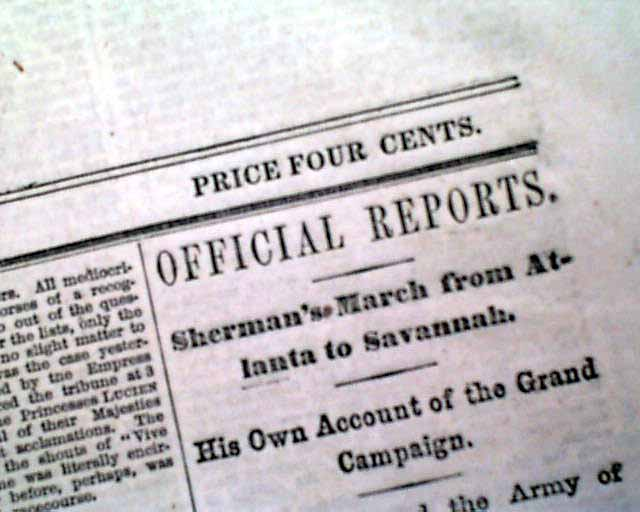 essays on shermans march to the sea In conjunction with general grant's siege of petersburg, major general william  tecumseh sherman's march to the sea, or the savannah campaign, signals.