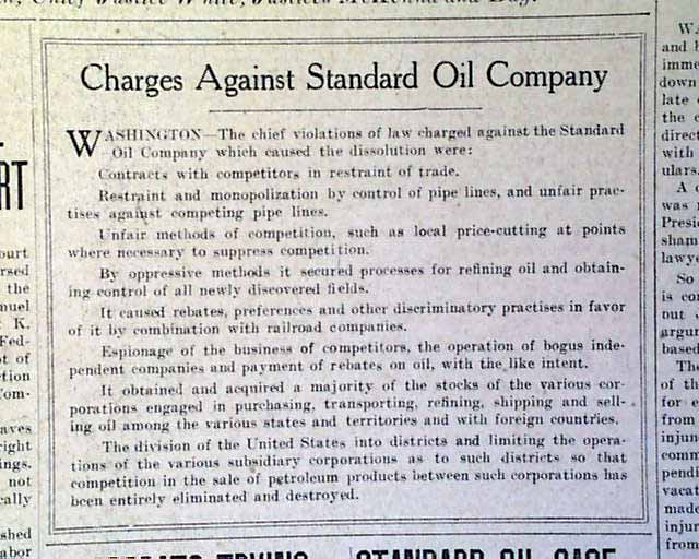 "case study standard oil co trust The case study for chapter 3: business power, entitled ""john d rockefeller and the standard oil trust,"" which starts on page 77 of the custom print textbook."