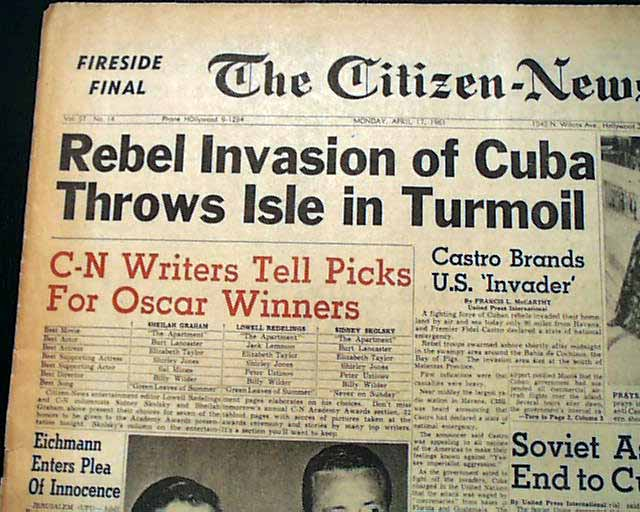 an overview of the failed invasion of cuba at the bay of pigs