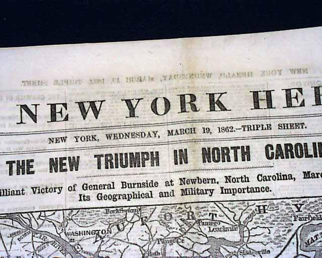 1862 Civil War Map - New Bern NC..... - RareNewspapers.com on battle of fredericksburg 1862, battle of tampa 1862, battle of kinston 1862, battle of roanoke island 1862, battle of fort macon 1862, battle of camden 1862, battle of winchester 1862,