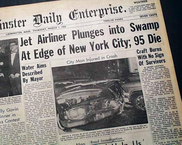 American Airlines Flight 1 Disaster Rarenewspapers Com