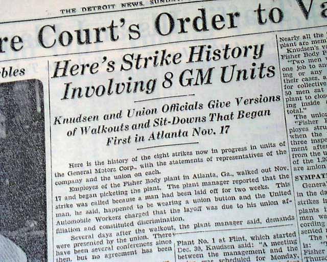 flint michigan sit down strike
