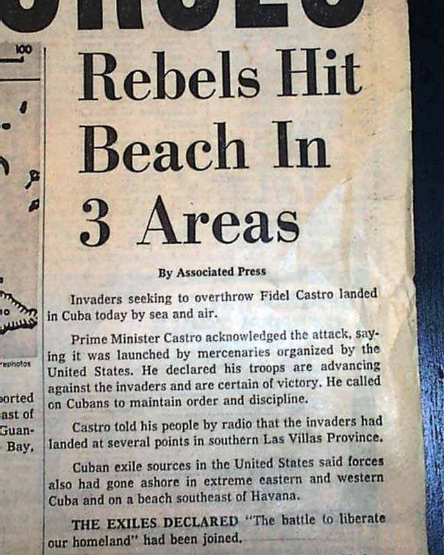 a look at the infamous bay of pigs invasion Remembering events that happened on this day.