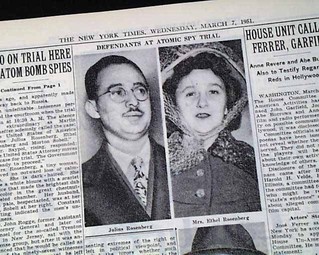a report of the julius and ethel rosenberg case Police photos of julius and ethel rosenberg (source: exhibits from  to trial to  report that ethel typed up the information david obtained from.