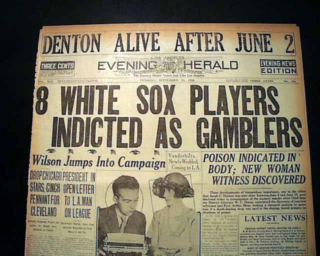 1919 baseball scandal