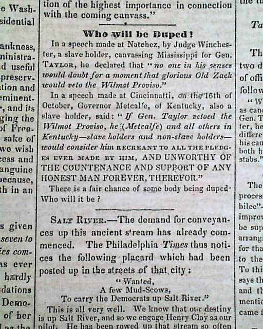 President Zachary Taylor And The Wilmot Proviso Early Florida