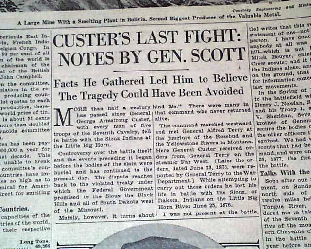 Custer massacre revisited... - RareNewspapers.com