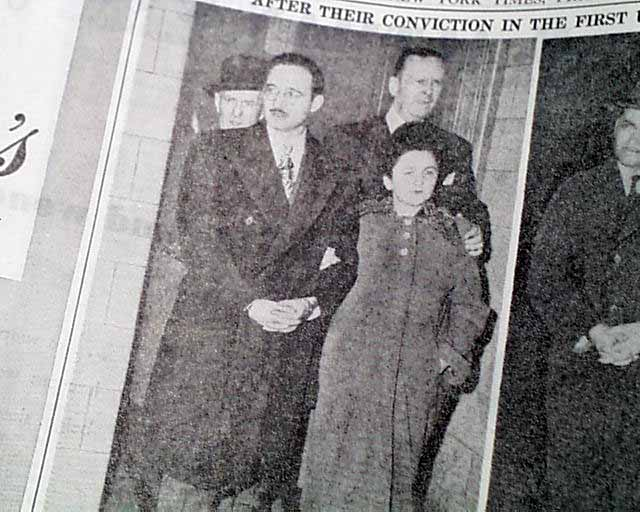 a report of the julius and ethel rosenberg case Morton sobell, ethel rosenberg, julius rosenberg, david greenglass, and anatoli yakovlev were charged with conspiracy to violate the espionage statutes on october 17, 1950, julius and ethel rosenberg pleaded not guilty bail of $100,000 was continued for julius rosenberg ethel rosenberg's bail was reduced to $50,000.
