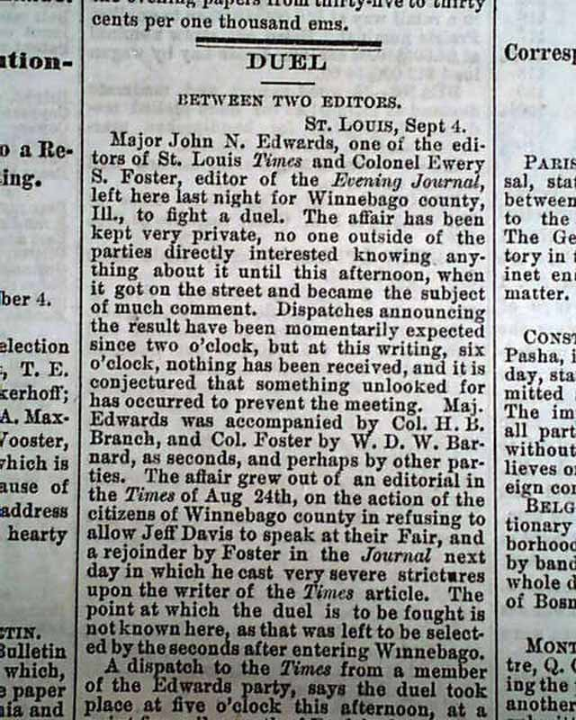Newspaper editors duel    - RareNewspapers com