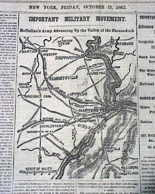 West Alabama Wholesale >> 1862 Civil War Map - Bunker Hill West Virginia ...