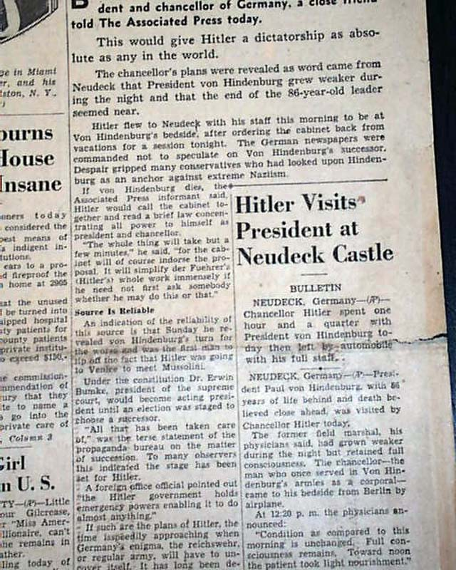 why was hitler able to rise to power in germany in 1933 essay Adolf hitler's accession to power in germany on january 30, 1933, occasioned only the slightest interest in britain little was known of him little was known of him it was usually assumed that he was a tool of the right or the army and in any case would not remain.
