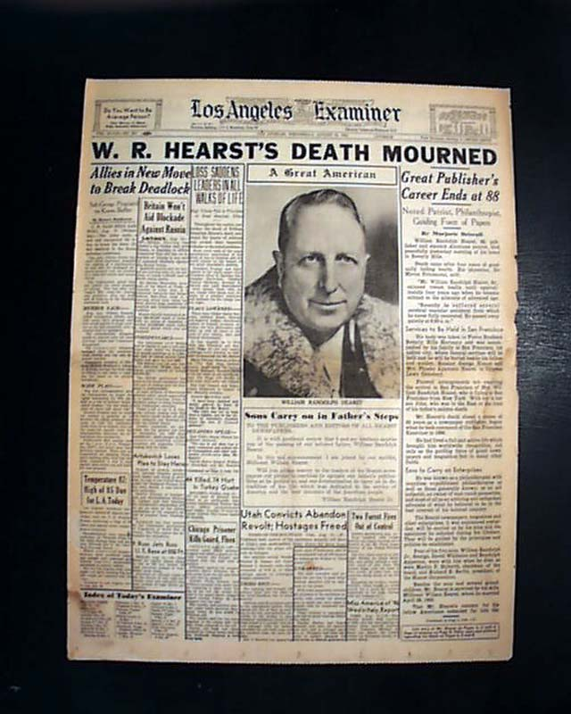 a biography of william randolph hearst an american newspaper publisher Newspaper publisher wm r hearst william randolph hearst (english) biography/william-randolph-hearst 1 reference imported from.