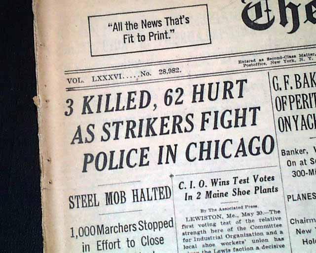 Memorial Day massacre...