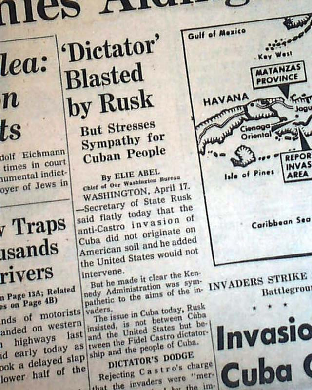 an overview of the failed invasion of cuba at the bay of pigs In 1961, the us government sponsored an invasion of cuba to overthrow its  prime minister, fidel castro though originally planned by the cia.