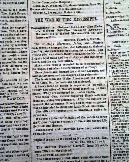 William T Sherman Rarenewspapers Com