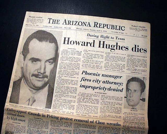 Image result for howard hughes dies