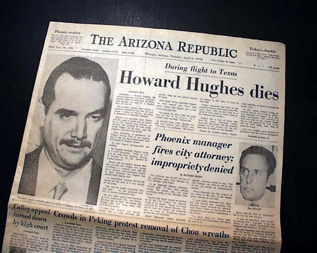 Image result for howard hughes dies
