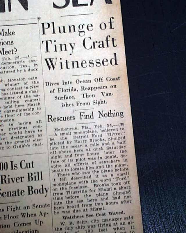 Harry Brooks Airplane Crash In Ocean Attending Doctor