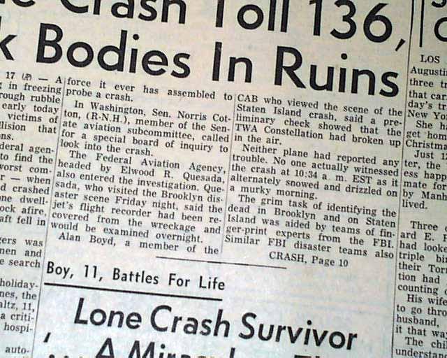 Crash Of United Airlines Flight 826 Rarenewspapers Com
