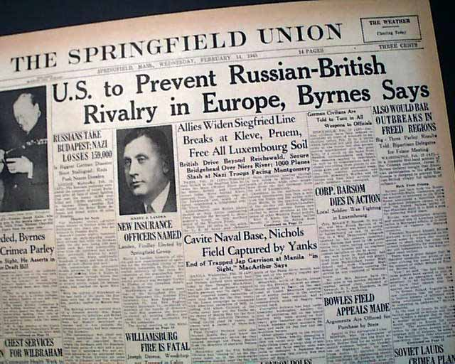 Big Three Meet In 1945 Yalta Conference Rarenewspapers