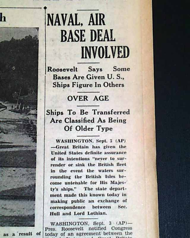 Destroyers For Bases Agreement Rarenewspapers
