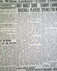 Chicago Black Sox World Series Scandal Breaks Players Suspensions 1920 Newspaper Sports Mem, Cards & Fan Shop