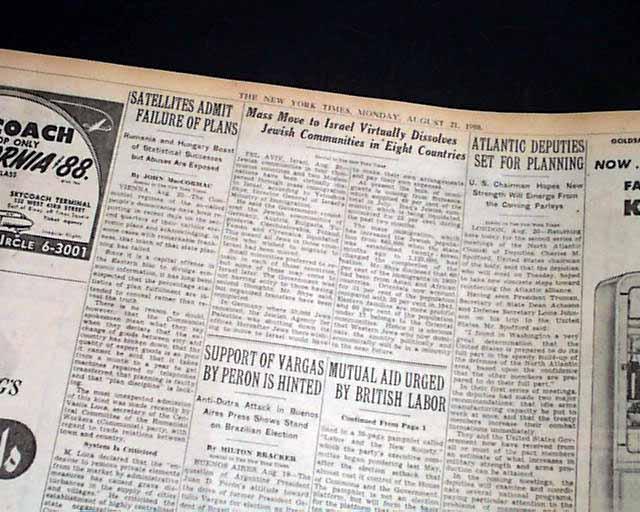 Operation Magic Carpet    - RareNewspapers com