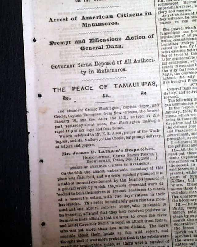 Matagorda Expedition Texas Rarenewspapers Com