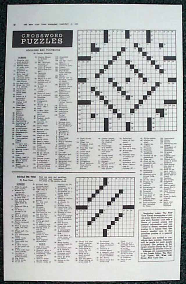 graphic relating to New York Times Crossword Printable identify A replica of the rather to start with Fresh York Instances crossword puzzle