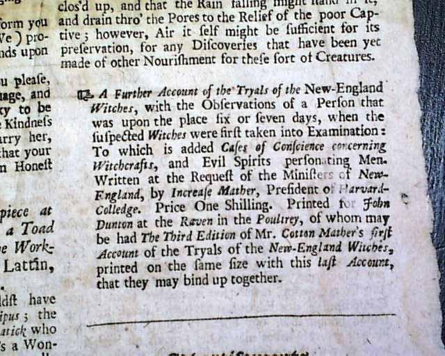 Period reference to the Salem witch trials    - RareNewspapers com