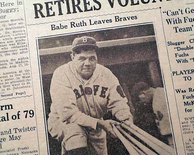 What Year Did Babe Ruth Retire