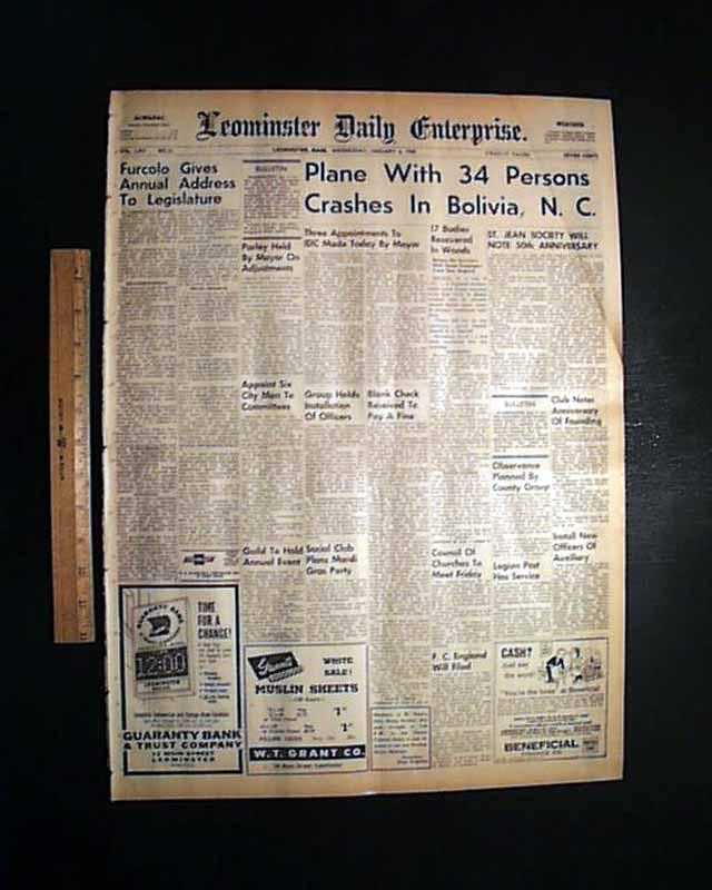 1960 Bolivia North Carolina Flight 2511 Disaster