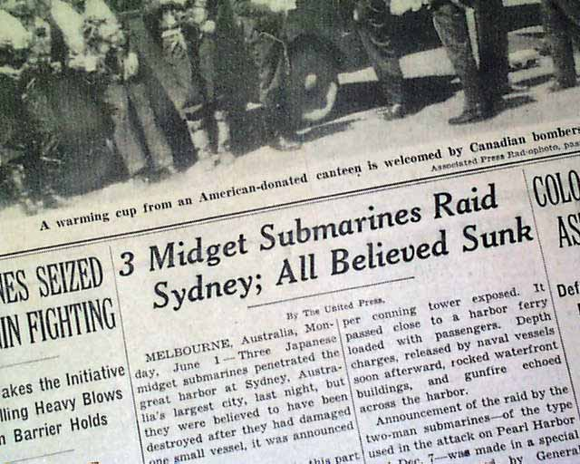Right midget submarine raid on sydney something