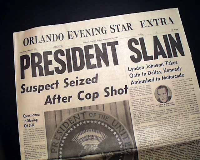 the american tragedy of november 22 1963 View the headline of the dallas morning news from november 23, 1963: 'kennedy slain on dallas street' see more original jfk documents at shapellorg.
