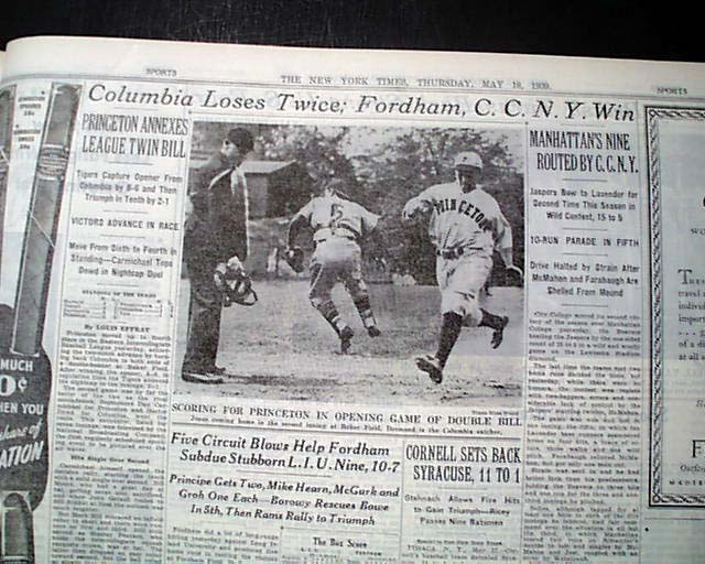 Details about Very 1st Ever TELEVISION Televised Sporting Event  Broadcasting 1939 Newspaper