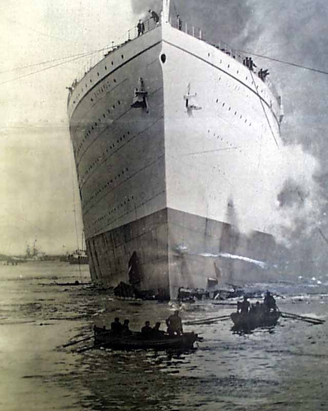 Rms Olympic: Launch Of The 'Olympic'...