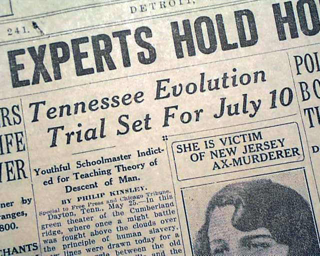 John T  Scopes indicted    - RareNewspapers com