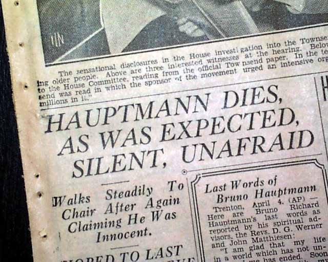 bruno richard hauptmann last words