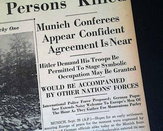 Munich agreement rarenewspapers image048tn platinumwayz