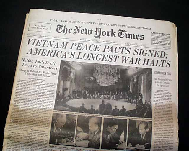 Image result for peace accords signed to end the vietnam war in 1973
