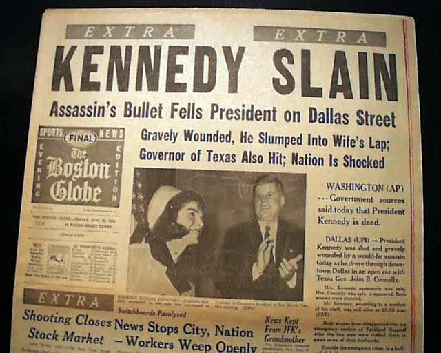 """A """"curious"""" Kennedy assassination newspaper... - RareNewspapers.com"""