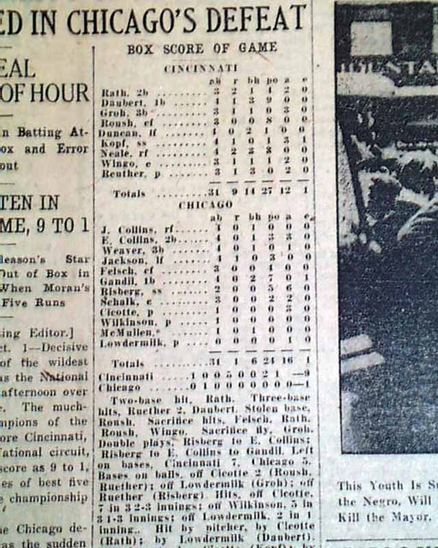 1919 black sox scandal paper View and download black sox scandal essays examples also discover topics, titles, outlines, thesis statements, and conclusions for your black sox scandal.