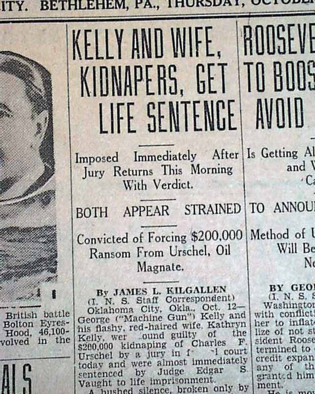 the life of machine gun kelly a gangster during the prohibition Machine gun kelly was a gangster and kidnapper during prohibition and the early part of the great depression he was nicknamed machine gun because his favorite weapon was a thompson machine gun he was arrested in tennessee in 1933 and died in jail from a heart attack in 1954.